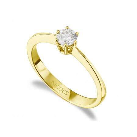 GERALDINE Yellow Gold (18kt) Engagement Ring with Diamond