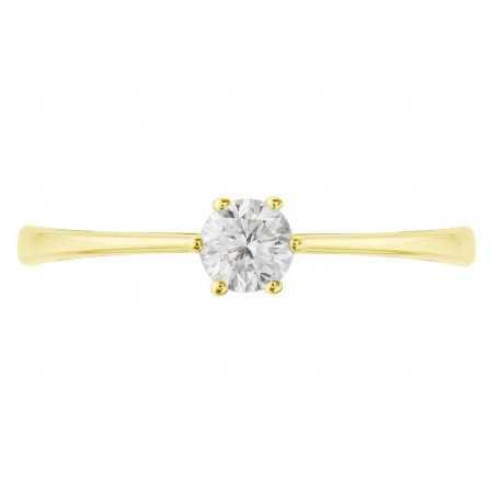 Anillo de Compromiso Geraldine Oro Amarillo (18kt) con Diamante