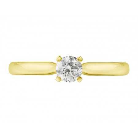 Anillo de Compromiso Elle Oro Amarillo (18kt) con Diamante