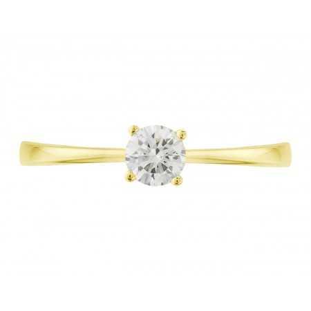 Anillo de Compromiso Isabella Oro Amarillo (18kt) con Diamante