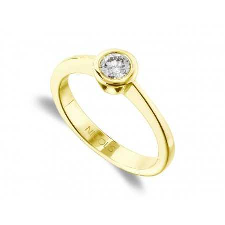 Anillo de Compromiso Sharon Oro Amarillo (18kt) con Diamante