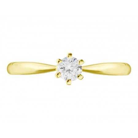 Anillo de Compromiso Alexia Oro Blanco (18kt) con Diamante