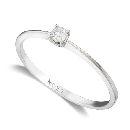 KATHERINE White Gold (18kt) Engagement Ring with Diamond