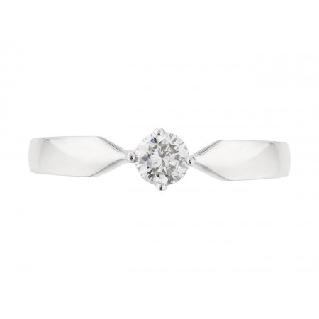 Anillo de Compromiso Marie Twisted Oro Blanco (18kt) con Diamante
