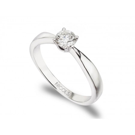 JACKIE White Gold (18kt) Engagement Ring with Diamond