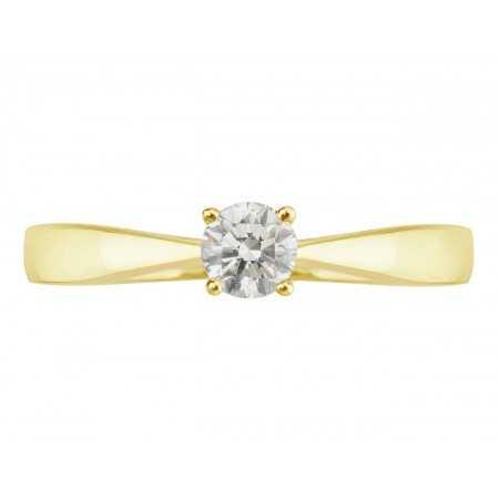 Anillo de Compromiso Jackie Oro Amarillo (18kt) con Diamante