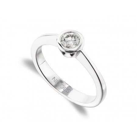 Anillo de Compromiso Sharon Oro Blanco (18kt) con Diamante