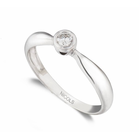 LINDA Engagement Ring White Gold (18kt) with Diamond