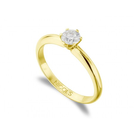 CHARLOTTE Yellow Gold (18kt) Engagement Ring with Diamond