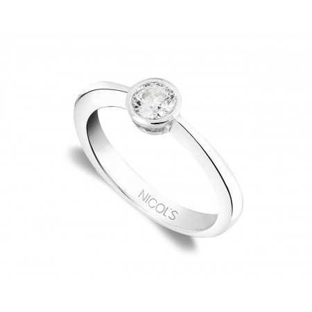 Anillo de Compromiso Lady Oro Blanco (18kt) con Diamante