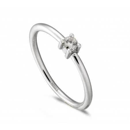 Anillo de Compromiso AMY Oro Blanco (18kt) con Diamante