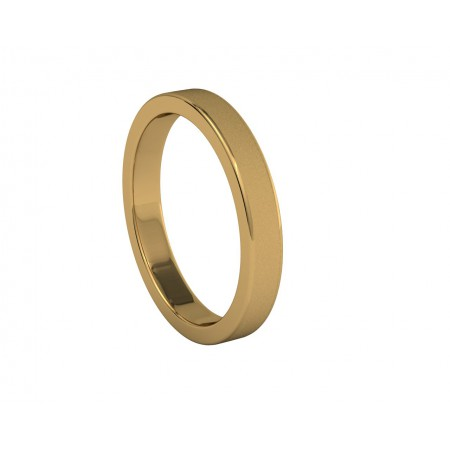 Wedding Alliance FREYA Matt Yellow Gold