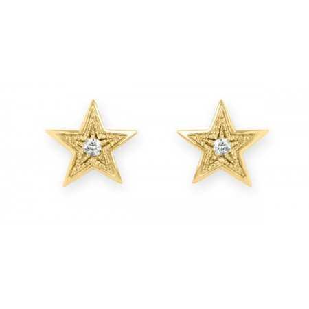 Pendientes Estrella MINI DETAILS 0.04ct