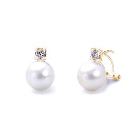 Pendientes Perlas Diamantes PEARLS LADY
