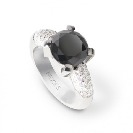Anillo Diamante Negro BLACK POWER