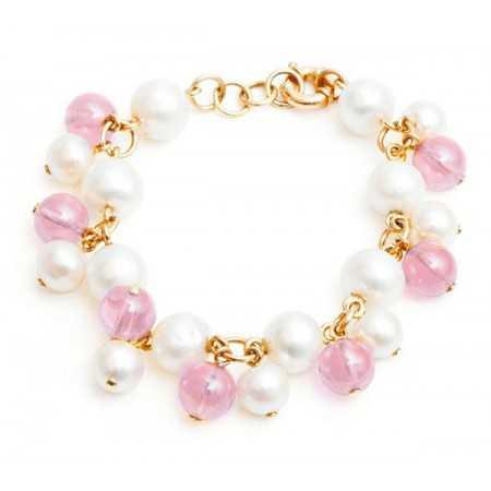 Pulsera Perlas y Cuarzo Pearls Lady