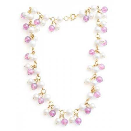Collar Perlas y Cuarzo Pearls Lady