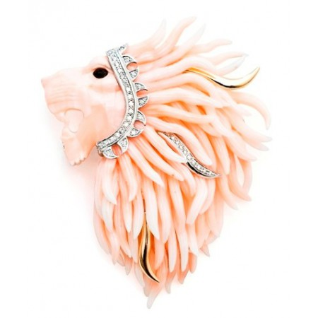 Broche Coral RED LION KING