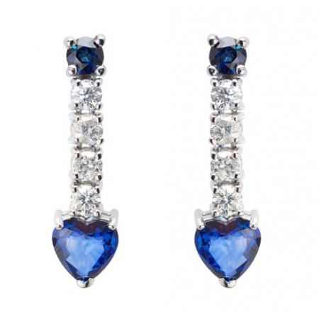 Pendientes de Diamantes y Zafiros SANGRE AZUL