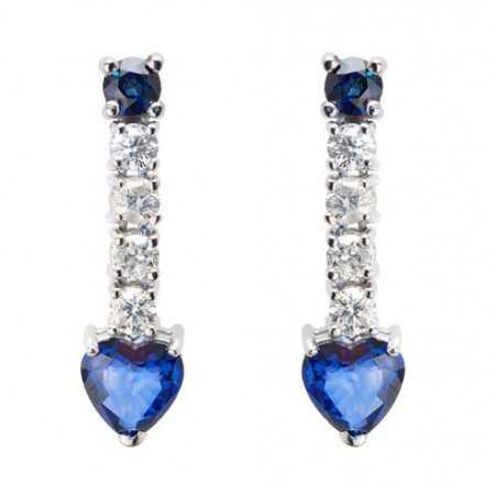 Pendientes Diamantes Zafiros SANGRE AZUL