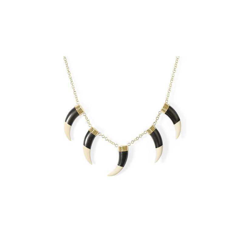 55360e0b7f41 Collar Colmillos CORAZÓN SALVAJE NICOL´S. Cadena de anillas con cierre