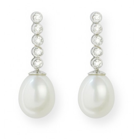 Pendientes de Diamantes PEARLS LADY