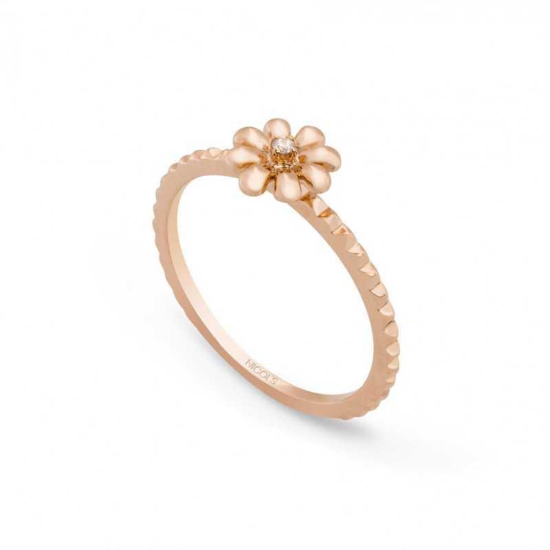 c7e912b25c64 Anillo de Diamantes Flor MIX   MATCH NICOL´S. Anillo en forma de flor de  siete pétalos