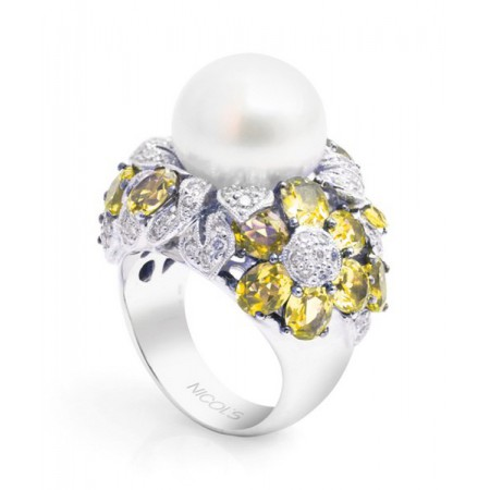 Anillo de Diamantes y Perla PEARLS LADY