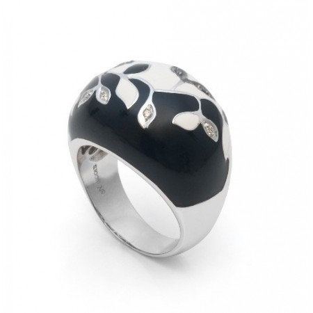 Anillo Diamantes Yin Yang