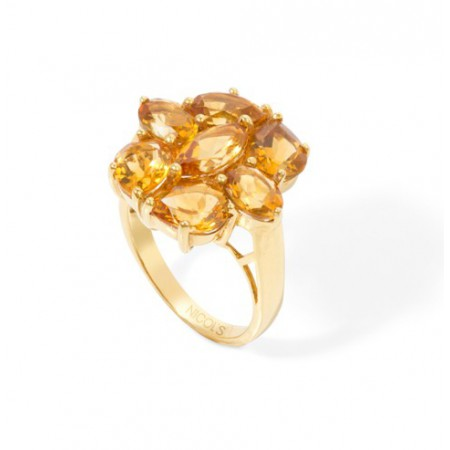 Anillo Citrinos FLOWERS