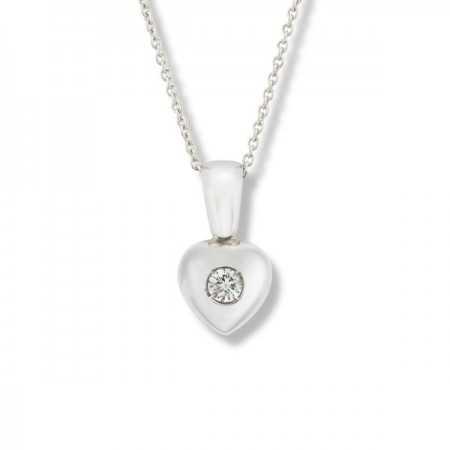 Colgante Diamante Corazón 0.08ct