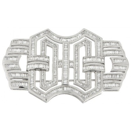 Broche de Diamantes DIAMOND BAGUETTE