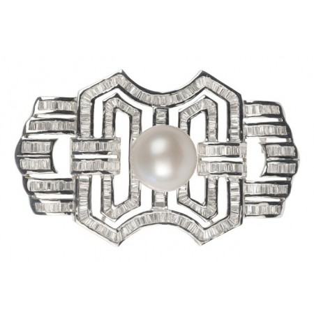 Broche de Perla DIAMOND BAGUETTE