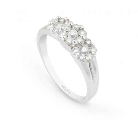 Anillo Diamantes ROSETON TRIPLE