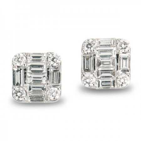 Pendientes de Diamantes DORMILONAS SQUARE