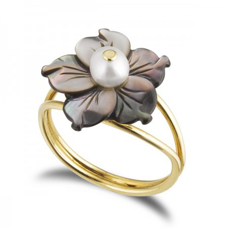 Anillo de Oro FLOWER POWER