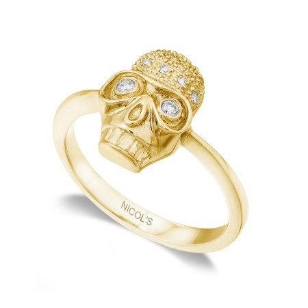 Anillo Calavera Diamantes NICOLS