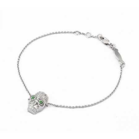 Pulsera Calavera Diamantes NICOLS