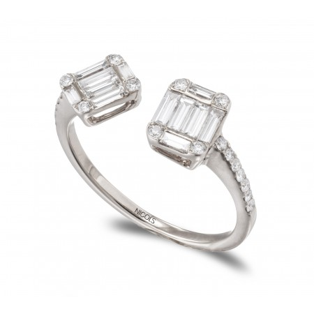 Anillo Diamantes TU YO SQUARE