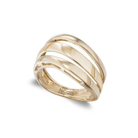 Anillo Oro BASIC GOLD TRES BANDAS