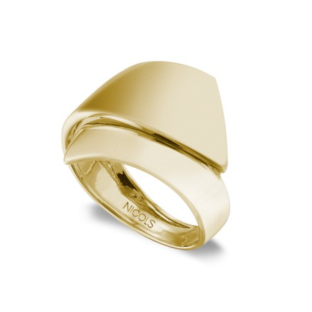 Anillo Oro BASIC GOLD BANDA PICO