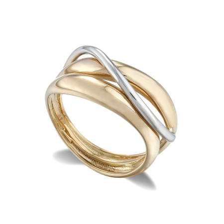 Anillo Oro BASIC GOLD DON BANDAS Y ONDA FINA