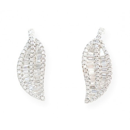 Pendientes de Diamantes DIAMOND LEAF