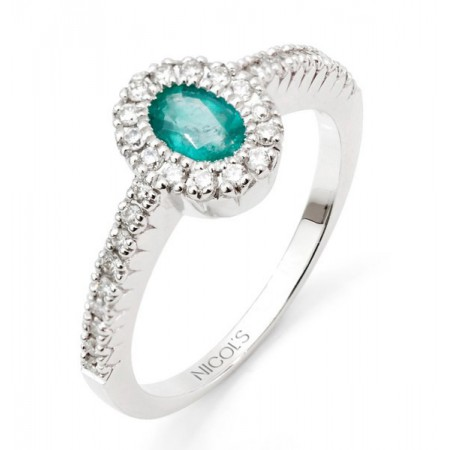 Anillo Esmeralda DIAMOND COLOR ORLA OVAL