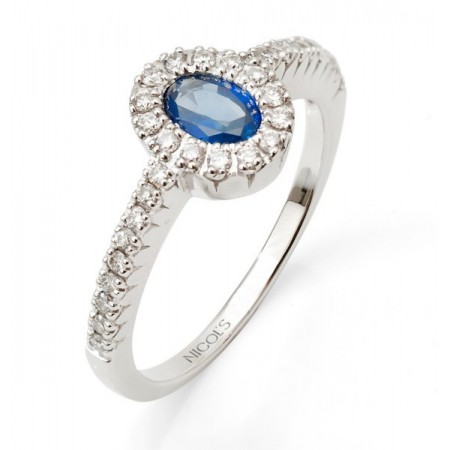 Anillo Zafiro DIAMOND COLOR ORLA OVAL