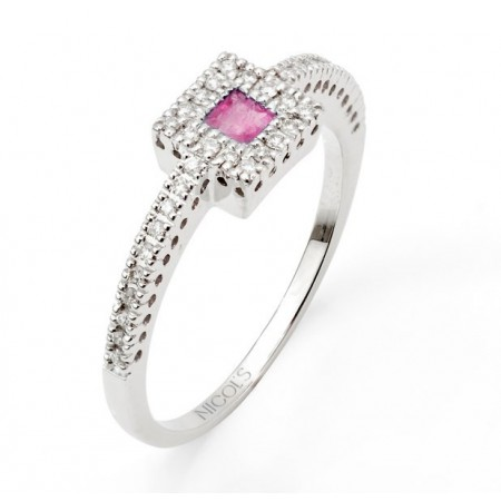 Anillo Diamantes DIAMOND COLOR ORLA QUARE