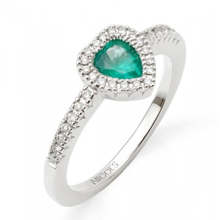 Anillo Esmeralda DIAMOND COLOR HEART