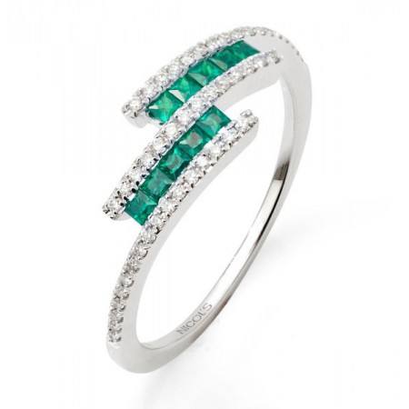 Anillo Diamantes Esmeraldas DIAMOND COLOR