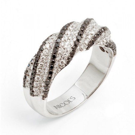 NICOL´S Anillo Diamond Classic & Black