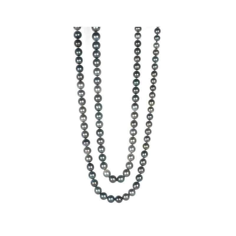 9125c7a42c4a Collar Perlas Tahiti PEARLS LADY NICOL´S. Hilo de 128 cm de largo de 103  perlas de Tahití de color cris. Perlas de 10-13mm.